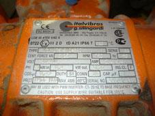 tabliczka znamionowa elektrowibratora MVSI 075/910-S90